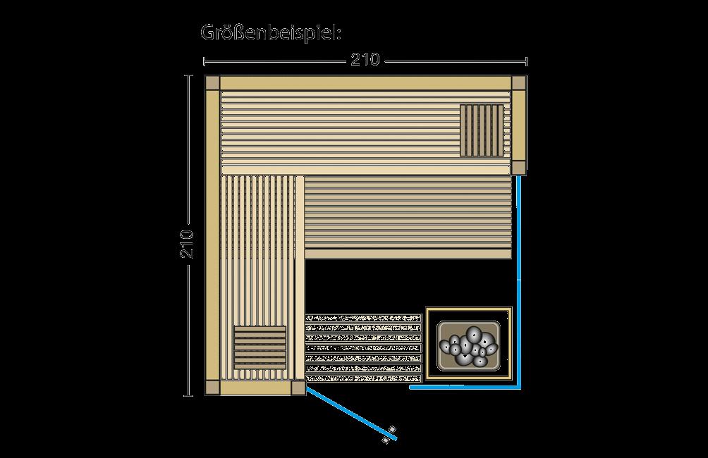 Grundriss Sauna Aurora Premium