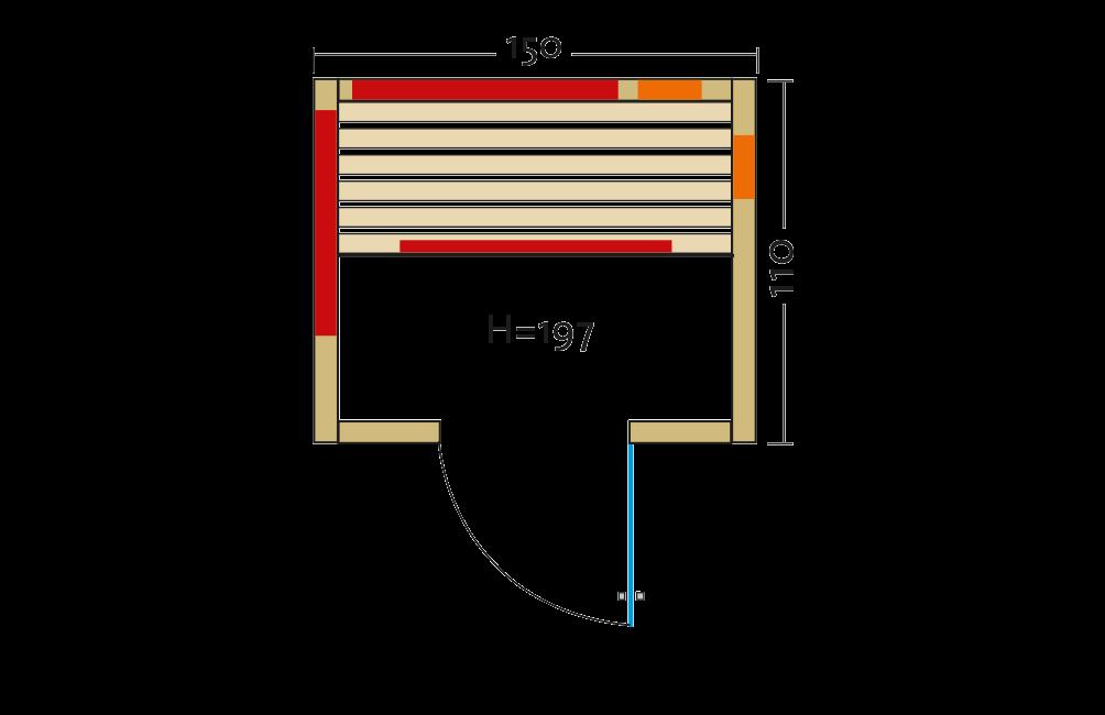 Grundriss Infrarotkabine Fusion Zermatt