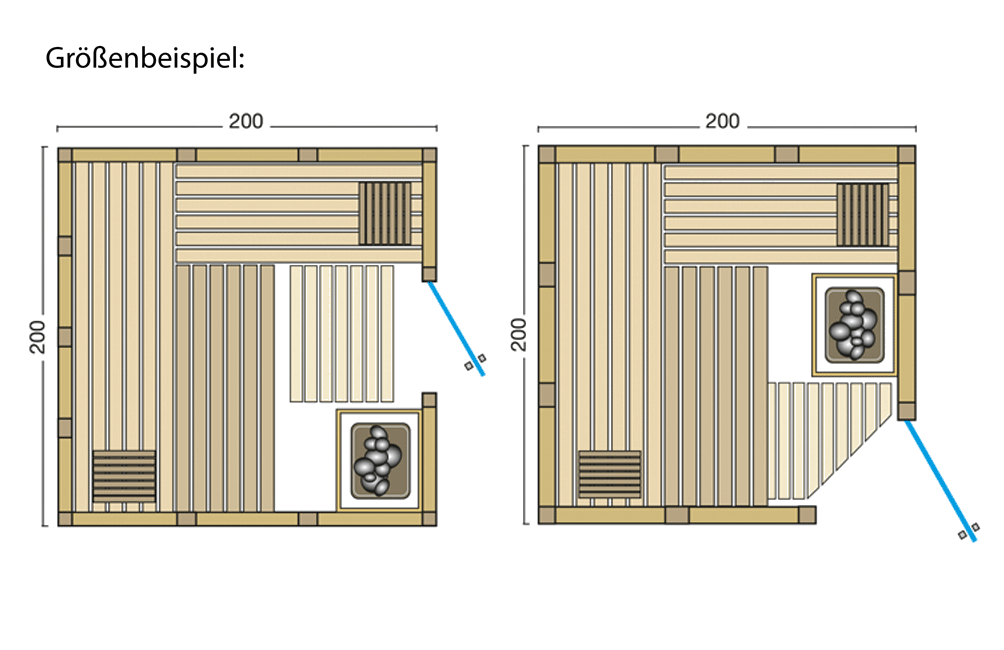 Grundriss Sauna Classico