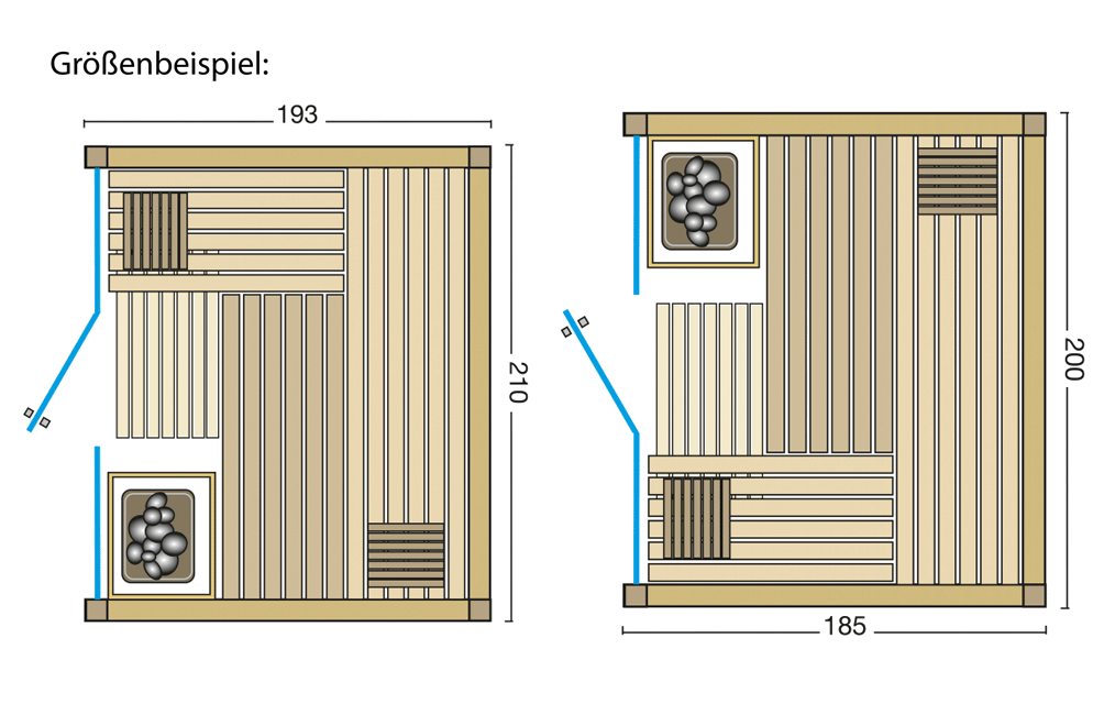 Grundriss Sauna Opal