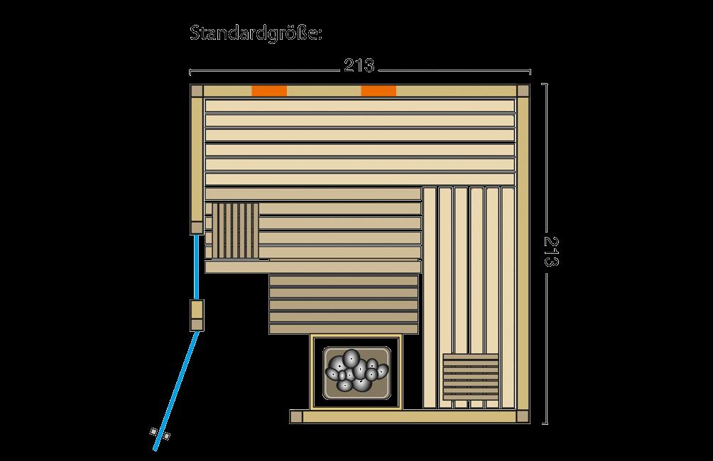 Grundriss Sauna Safir Complete