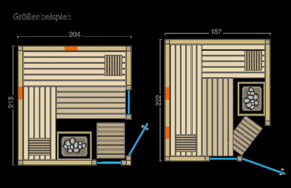 Grundriss Sauna Safir