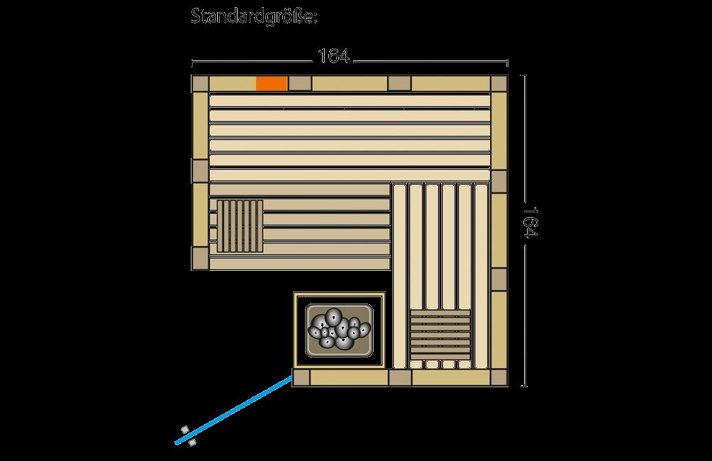 Grundriss Sauna Urban Complete