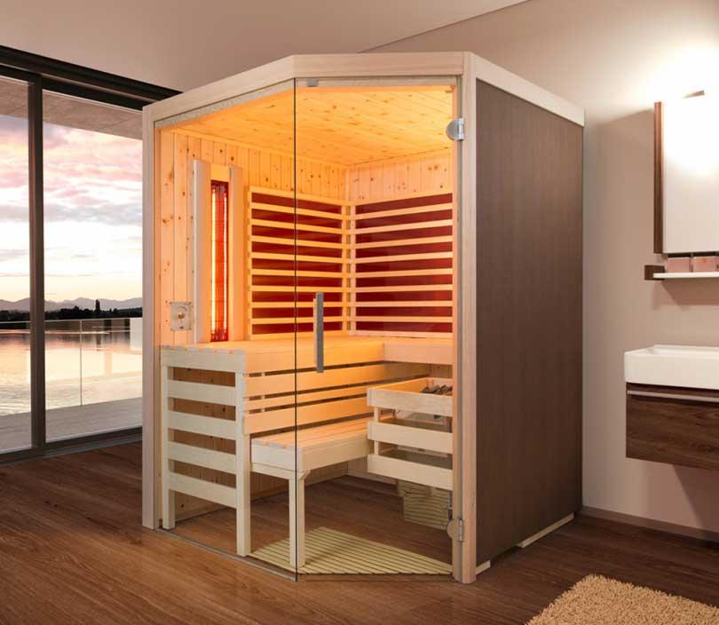 Sauna mit Infrarotstrahler - die Multifunktionssauna