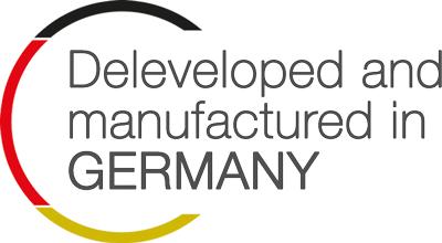 Entwickelt und hergestellt in Deutschland