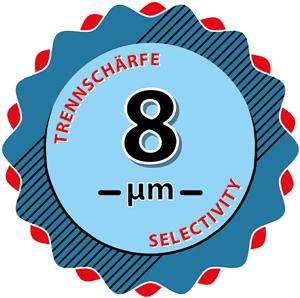 8 Mikrometer Trennschärfe