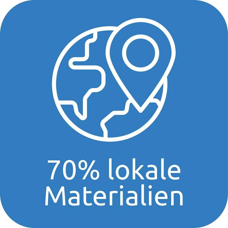 70% lokale Materialen